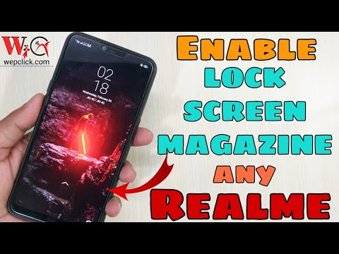Enable Lock Screen Stories or Lockscreen Magazine  in All Realme Devices | WepClick