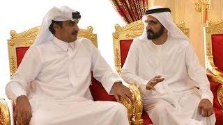 """محمد بن راشد يتقبل تعازي أمير قطر وعدد من الوفود في وفاة نجله """"راشد"""""""