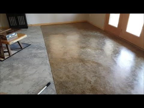 Diy Basement Floor Stain And Finish 2 Colors Without Etching