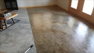 DIY Basement Floor Stain and finish, 2 colors, Without Etching!