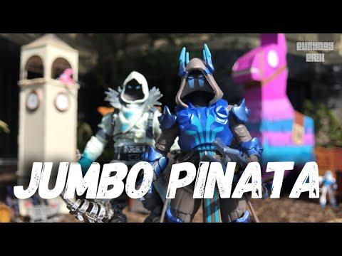 Fortnite Jumbo Loot Pinata W/ Ice King & Frozen Raven 4'' Jazwares Action Figure Toy Review!