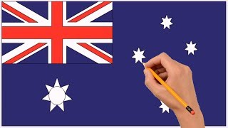How to Draw Australian Flag Step by Step Easy For Kids
