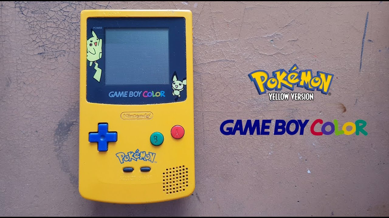 Gameboy color and pokemon yellow - Gameboy Color With Pokemon Yellow