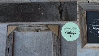 This video is not available. How to make a frame from reclaimed wood