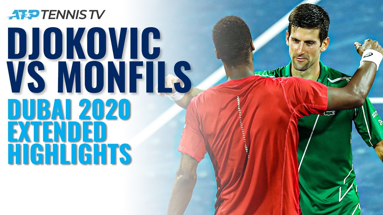 Novak Djokovic vs Gael Monfils   Dubai 2020 Semi-Final Extended Highlights
