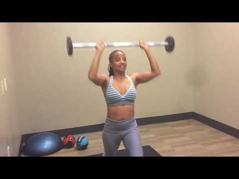 Total Body Barbell Free Weight Exercise For Vegan Women