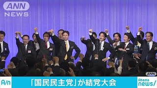 「国民民主党」結成 共同代表に大塚氏と玉木氏(18/05/07)