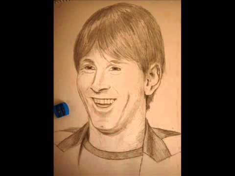 Dibujo de Leon Messiwmv  YouTube