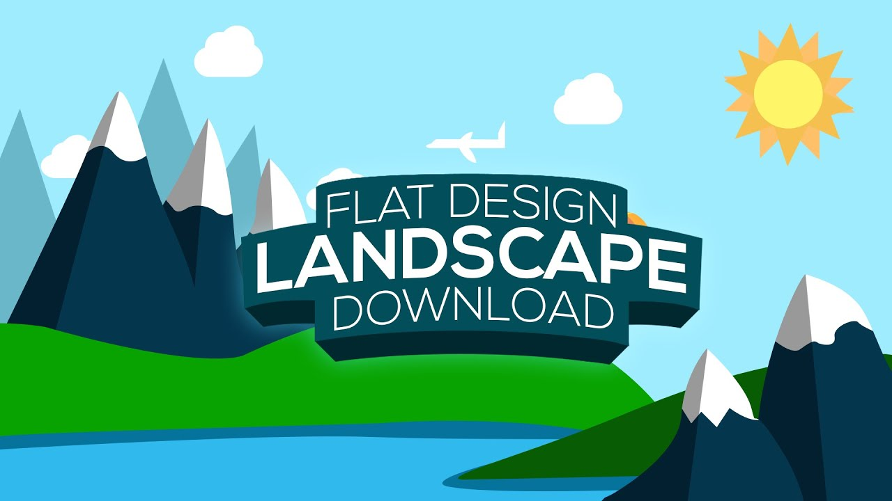 Illustrator Landscape Flat Design Youtube