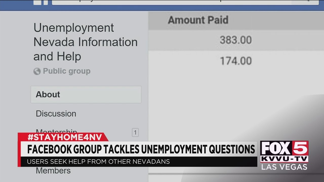 Facebook Group Offers Unemployment Help In Nevada Youtube