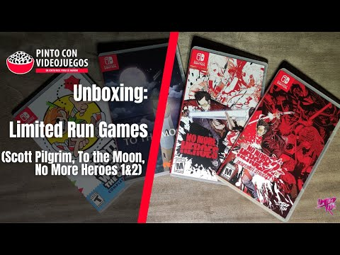 ¡UNBOXING! #LimitedRun Games: Scott Pilgrim: The Game, To the Moon, No More Heroes 1&2