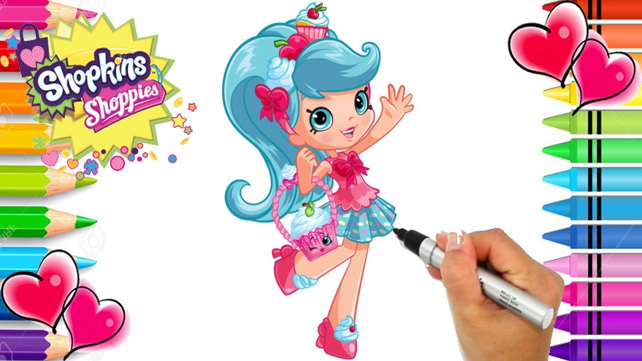 Shopkins Shoppies Jessicake Coloring Page Shopkins Shoppies