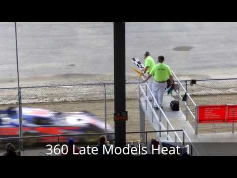 Little Valley Speedway 360 Late Models Heat Races 7-1-16
