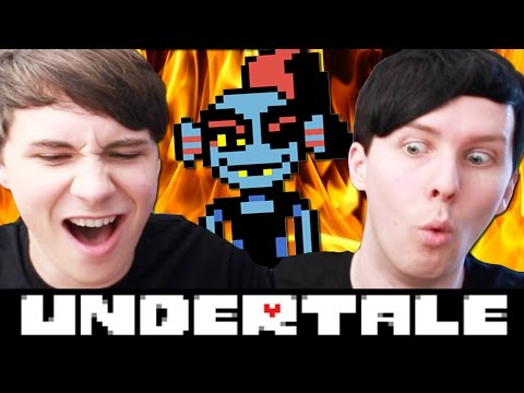COOKING WITH UNDYNE! - Dan and Phil play: Undertale #6