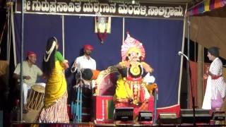 Yakshagana-Uttarana Pourusha 07 -Dhareshwar & Ramesh Bhandari- Saligrama Mela