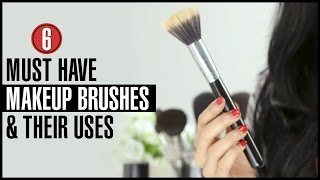 6 Types of  Makeup Brushes and How to Use them Effectively