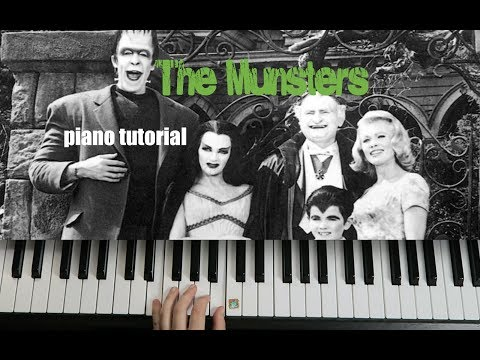 Munsters theme song   Halloween piano tutorials