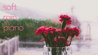 [10시간] 집중과 편안함에 도움을 주는 부드러운 빗소리+피아노 연주 10시간 (중간광고없음) // 집중 공부 힐링 휴식 감성 명상 1시간 5시간