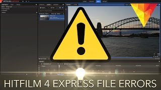 Hitfilm 4 Express - Fixing File Importing Errors