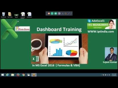 Dashboard Concept in Excel 2016 -  MIS Training Institute