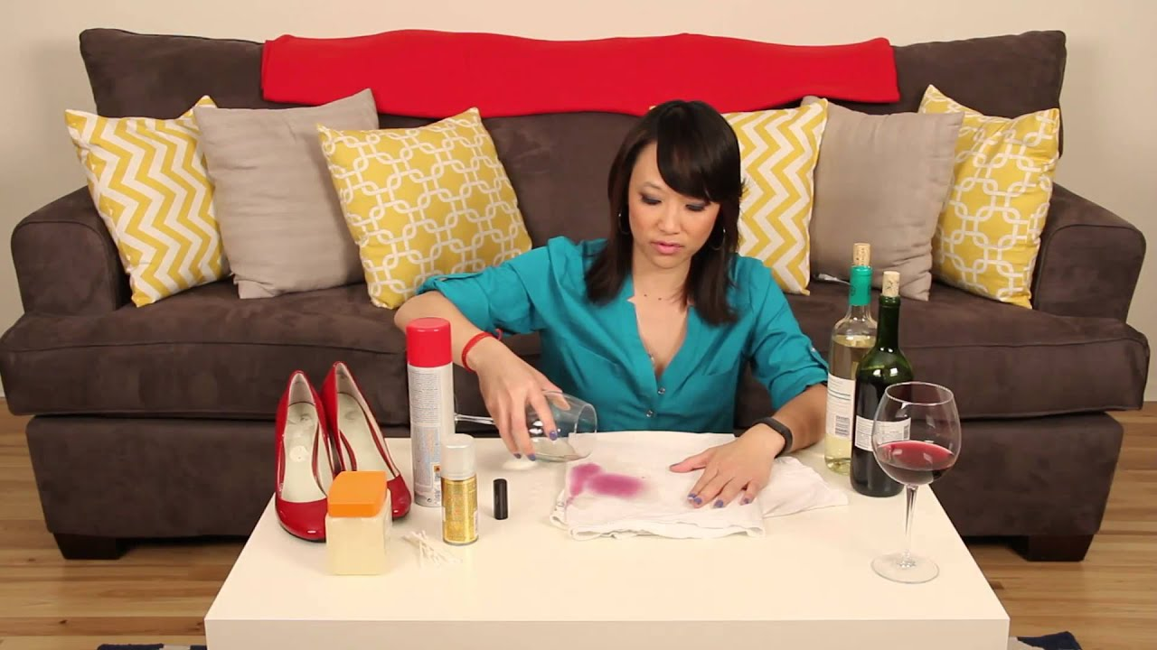 How to remove a red wine or lipstick stain from clothing How to get rid of red lipstick stain