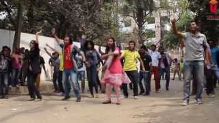 ICC world Twenty 20 2014 Bangladesh Flash Mob   University of South Asia