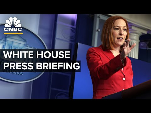 White House Press Secretary Jen Psaki holds a briefing with