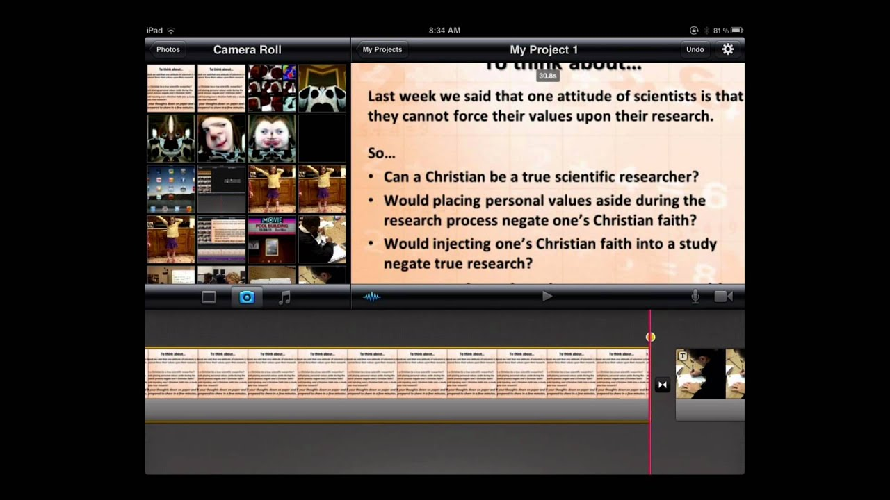 how to make a timelapse in imovie ipad