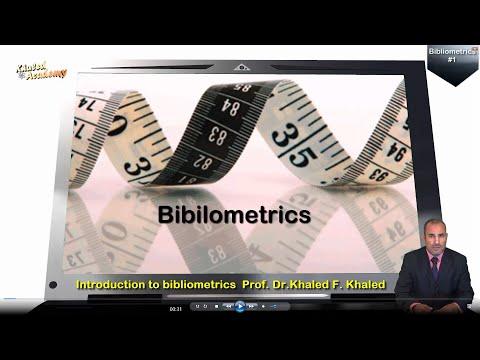 Bibliometrics :  Episode #1:  Introduction to bibliometrics
