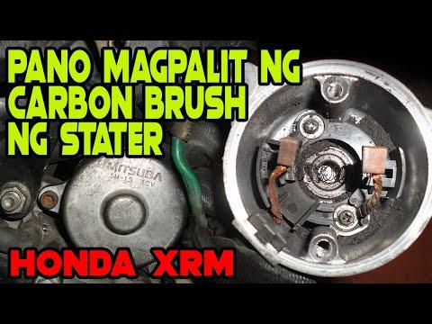 Pano mag palit ng carbon brush starter ng motor | Honda XRM125