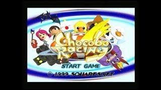 Gambar cover Gameplay Ps1 - Chocobo racing PAL Mode grand prix (1999)