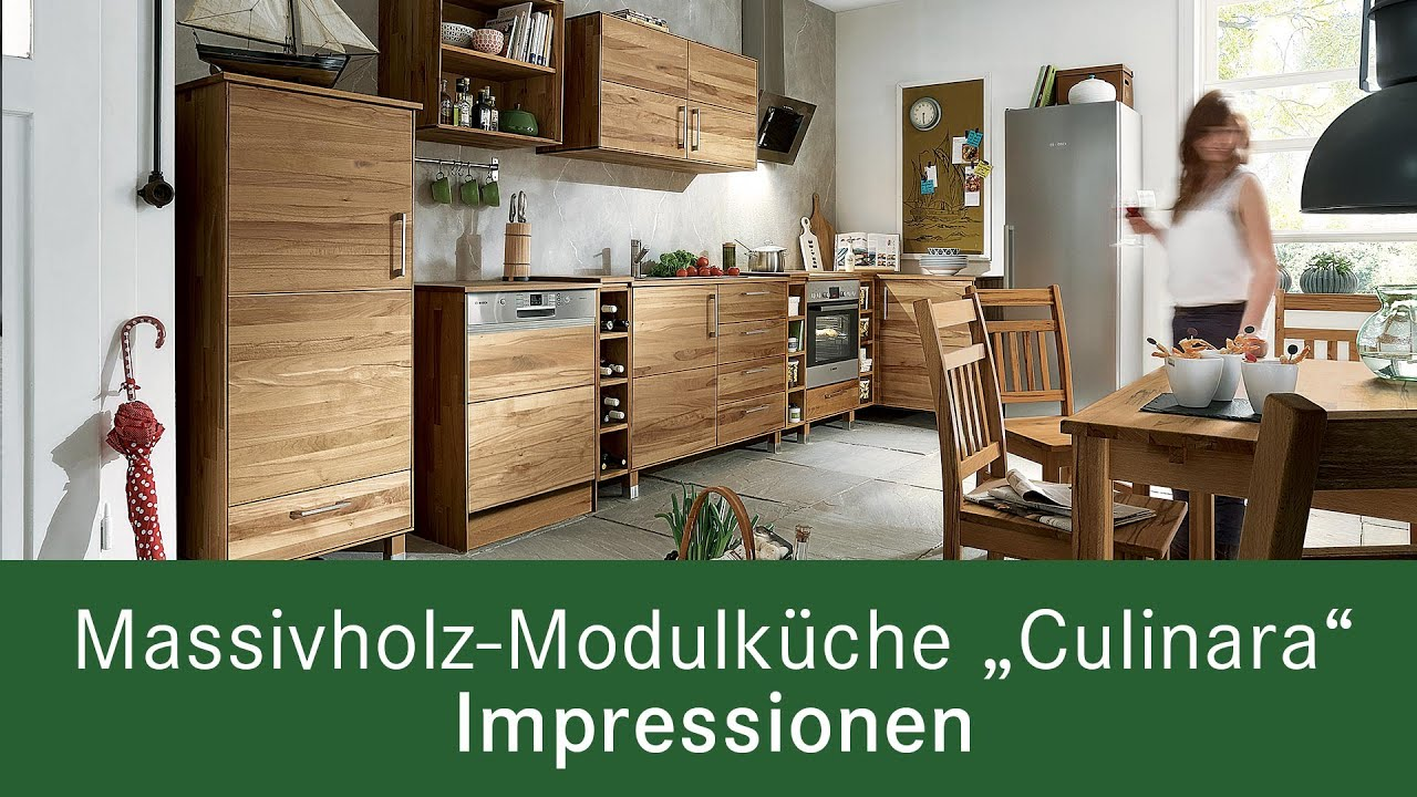 Massivholz Modulküche Culinara Impressionen Youtube