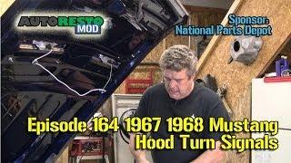 1967 1968 Turn signal hood light install with sequentials Episode164 Autorestomod