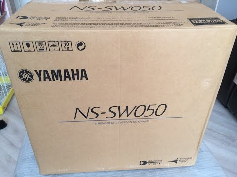 Сабвуфер Yamaha NS SW050 Black.  Распаковка Все