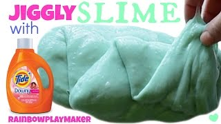Video DIY JIGGLY SLIME WITH TIDE!!! 3 INGREDIENTS!  SO EASY ONLY TAKES 2 MINUTES!!! download MP3, 3GP, MP4, WEBM, AVI, FLV November 2017