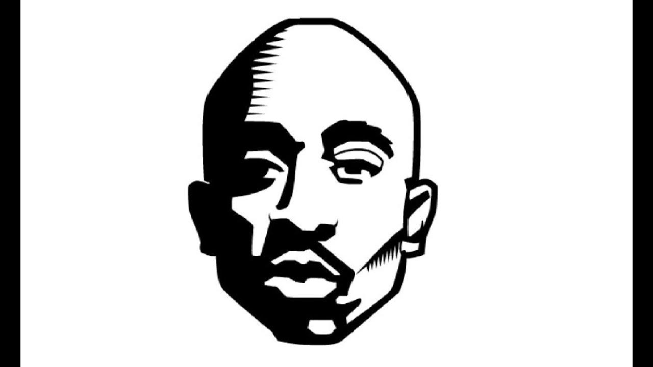 How to draw a tupac shakur 2pac как нарисовать тупака шакура
