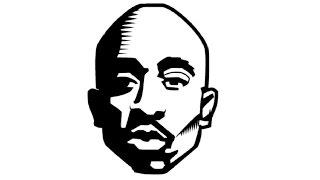 How to Draw a Tupac Shakur (2Pac) / Как нарисовать Тупака Шакура