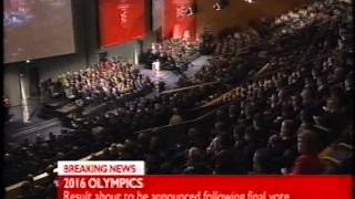 2016 Olympics Bid Announcement (2nd October 2009) - Various channels live coverage