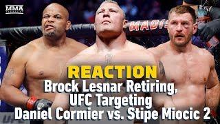 Brock Lesnar Retires, UFC Targets Daniel Cormier vs. Stipe Miocic 2 Reaction | The A-Side Live Chat
