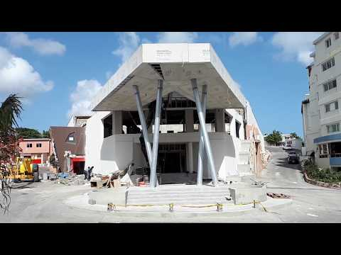 Casino Royale, airport, rebuilding of Maho 3 rd july 2018 after hurricane Irma St Martin