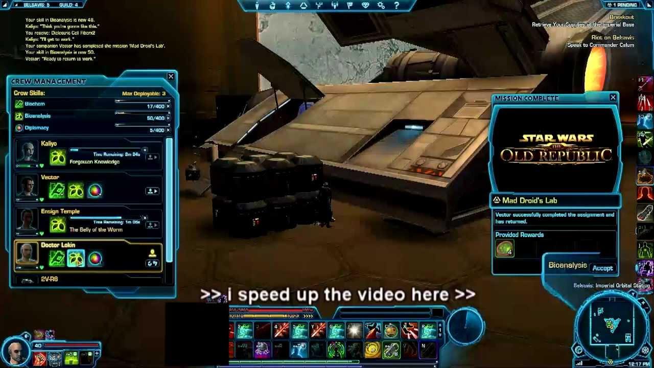 SWToR Crew Skills Bot