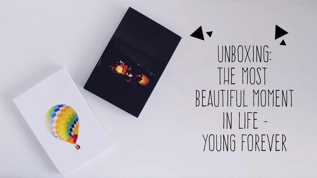 Unboxing The Most Beautiful Moment In Life Young Forever Youtube
