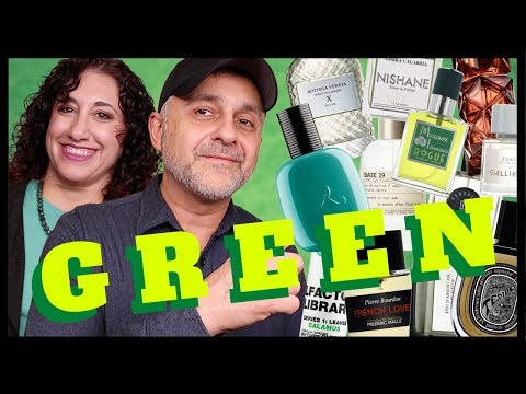 TOP 20 GREEN FRAGRANCES | FAVORITE GREEN PERFUMES RANKED 2020