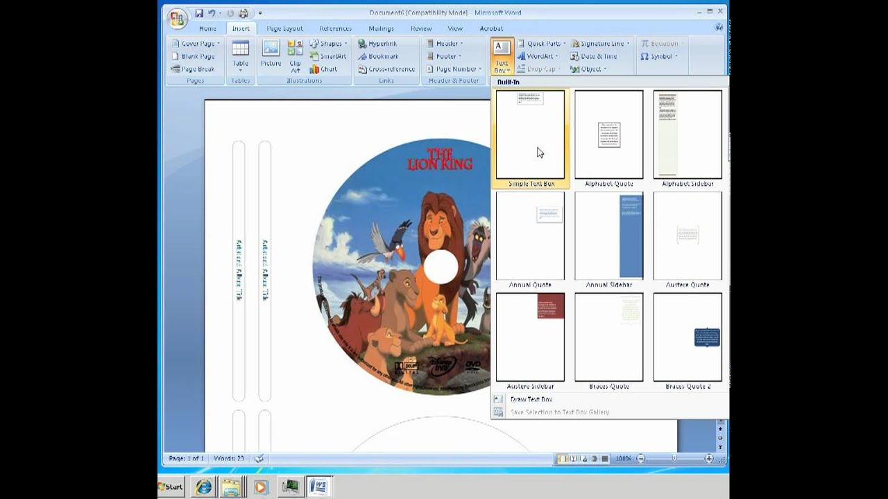 How to make labels for cd dvd disc - YouTube