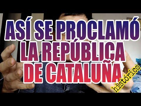 ASÍ SE PROCLAMÓ LA REPÚBLICA DE CATALUÑA