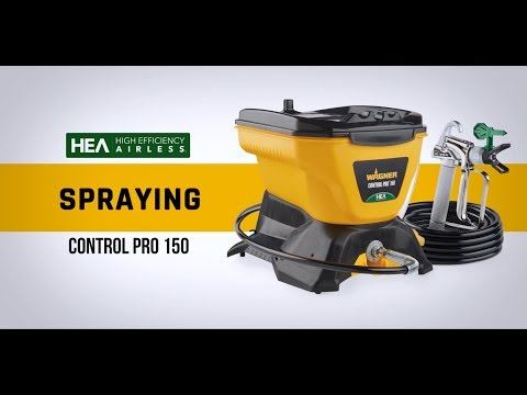 Wagner Control Pro 150 Paint Sprayer High Efficiency Airless with Low Overspray