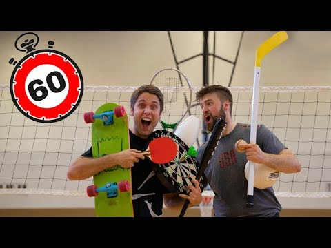Most Sports Played In 60 Seconds *WORLD RECORD!*
