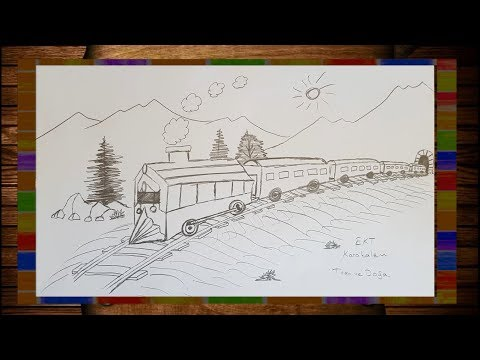 Ekt Karakalem Kolay Ve Basit Tren Cizimi Youtube