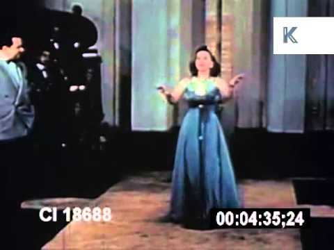 1940s Mexico, Woman Sings, Incredibly Fast Singing, Archive Footage
