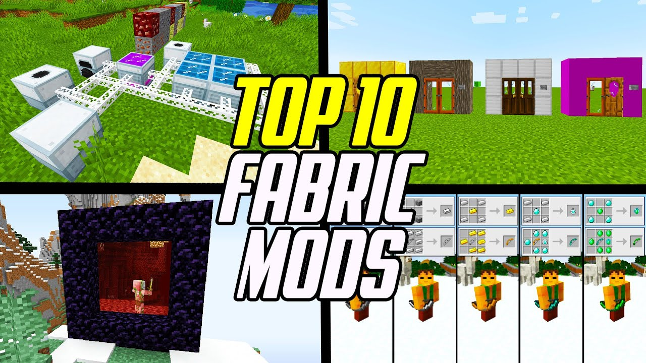 Top 10 Minecraft Fabric Mods (Fabric Mod Loader) YouTube